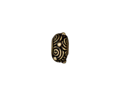 TierraCast Antique Brass (plated) Spiral Euro 6x12mm