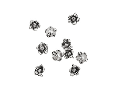 Pewter Daisy Dangle 10mm