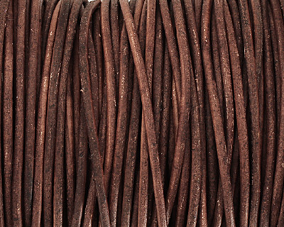 Natural Red Brown Round Leather Cord 2mm