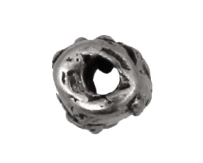 Rustic Charms Sterling Silver Swirl Tube 8x5mm