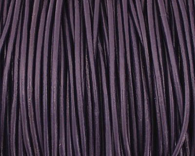 Violet Round Leather Cord 2mm