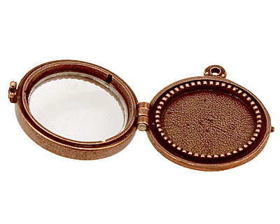 Nunn Design Antique Copper (plated) Small Beaded Locket 30mm