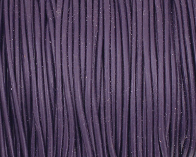 Violet Round Leather Cord 1.5mm