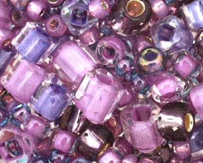 TOHO Kawaii Purple/Green Seed Bead Mix