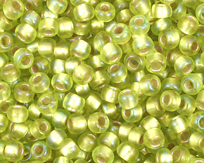 TOHO Rainbow Lime Green (with Frosted Silver Lining) Round 11/0 Seed Bead