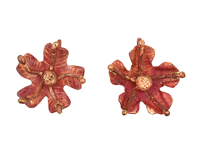 Patricia Healey Copper 5 Petal Flower Charm 22mm