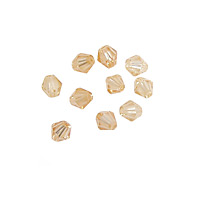 Champagne Faceted Bicone 4mm