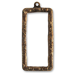 Vintaj Natural Brass Scrolled Frame 20x43mm