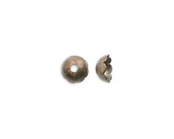 Vintaj Natural Brass Scalloped Bead Cap 6mm