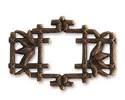 Vintaj Natural Brass Asian Frame 40x27mm