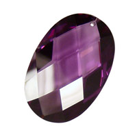 Violet Faceted Oval 20x30mm