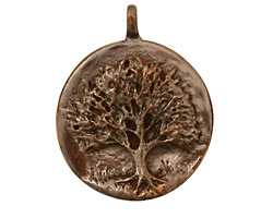 Green Girl Shibuichi Tree Pendant 34x28mm