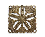 Vintaj Natural Brass Etruscan Kaleidoscope Pendant 32mm