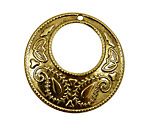 Stampt Antique Gold (plated) Paisley Gypsy Hoop 38mm