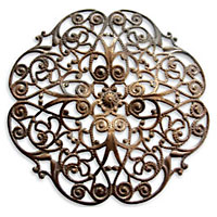 Vintaj Natural Brass Full Peony Filigree 62mm