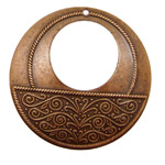 Stampt Antique Copper (plated) Vine Print Gypsy Hoop 50mm