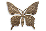 Vintaj Natural Brass Ornate Butterfly Pendant 36x30mm