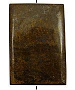 Bronzite Thin Pillow Pendant 60x40mm