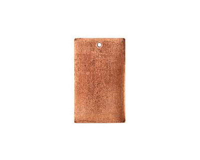 Nunn Design Antique Copper (plated) Flat Large Rectangle Tag 18x30mm