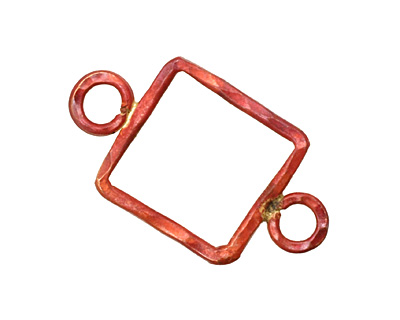 Patricia Healey Copper Large Square Link w/ 2 Loops 35x20mm