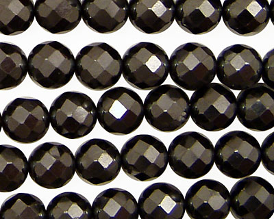 Hematite Faceted Round 8mm