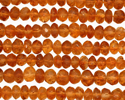 Citrine (dark) Faceted Rondelle 4.5-6mm