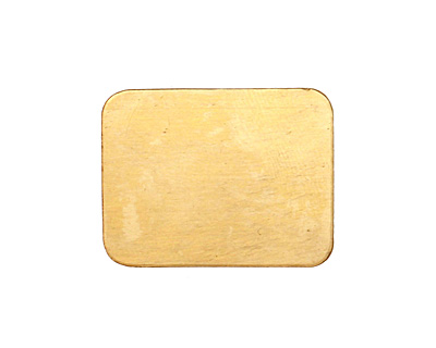 Brass Rectangle Blank 26x20mm