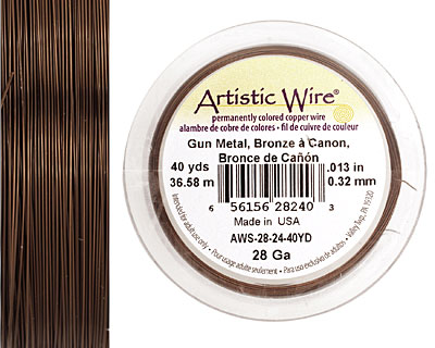 Artistic Wire Gunmetal (bronze) 28 gauge, 40 yards