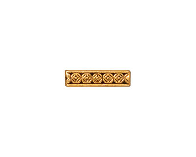 TierraCast Antique Gold (plated) Deco Rose 3-Hole Bar 4x15mm