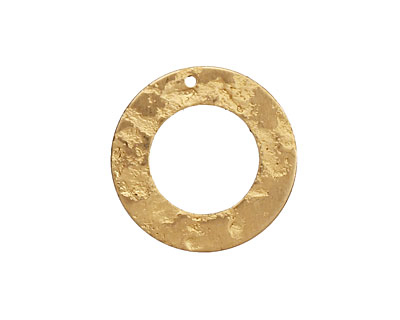 Brass Textured Ring 22mm