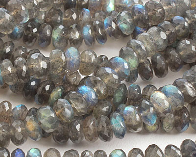 Labradorite (A) Faceted Rondelle 8mm