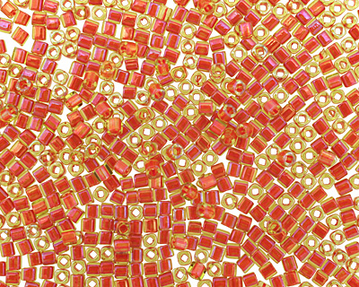 TOHO Jonquil (with Hyacinth Lining) Cube 1.5mm Seed Bead