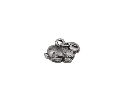 Green Girl Pewter Tiny Bunny Charm 15x10mm