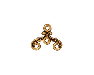 TierraCast Antique Gold (plated) 3-1 Keepsake Link 15x12mm