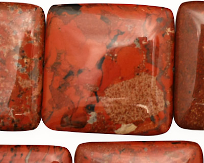 Brecciated Jasper Puff Square 30mm