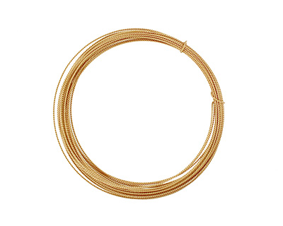 German Style Wire Non Tarnish Brass Fancy Round 22 gauge, 5 meters