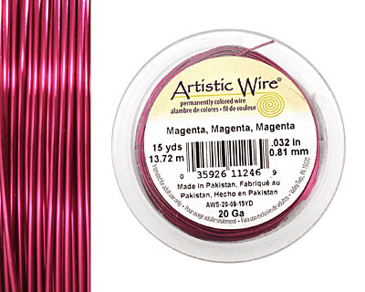 Artistic Wire Magenta 20 gauge, 15 yards