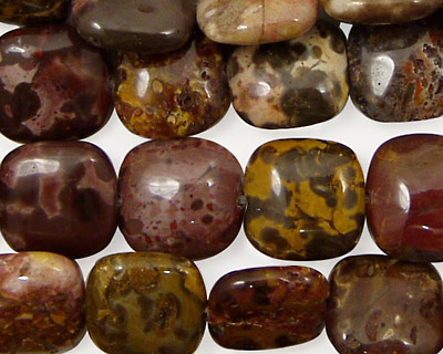 Tiger Jasper Puff Square 12mm