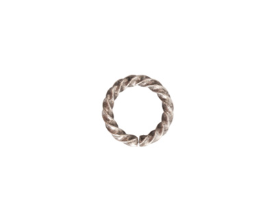 Nunn Design Antique Silver (plated) Large Rope Jump Ring 12mm
