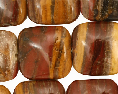 Golden Zebra Jasper Puff Square 20mm