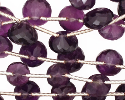 Amethyst Faceted Onion 8-11x5-8mm