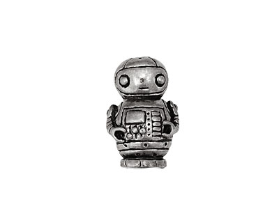 Green Girl Pewter Robot Friend