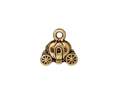TierraCast Antique Gold (plated) Carriage Charm 15x14mm
