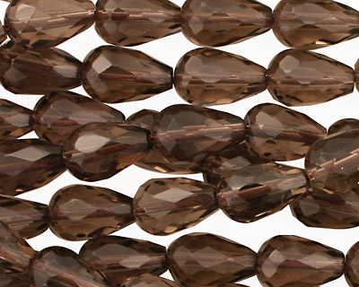 Smoky Quartz Faceted Teardrop 11-13x7-8mm