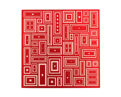 Lillypilly Red Deco Rectangle Anodized Aluminum Sheet 3
