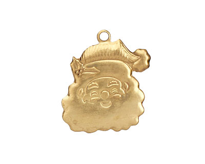 Brass Santa Face 19x24mm