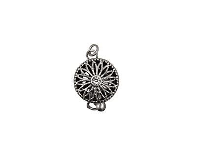 Antique Silver (plated) Filigree Box Clasp 17x10mm