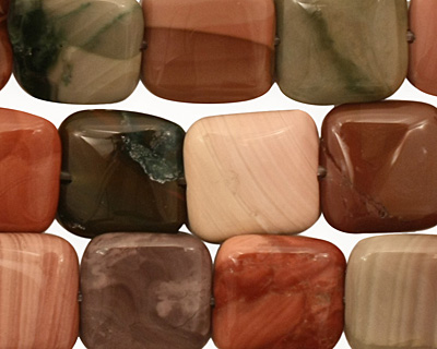 Imperial Jasper Puff Square 12mm