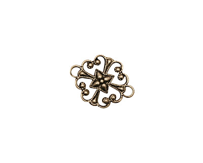 Stampt Antique Pewter (plated) Clover Connector 16x12mm