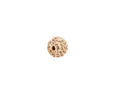 Silk Pave Round 8mm